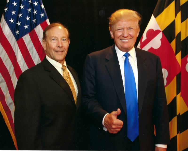 Charles Floyd with President Trump